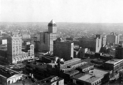 Black & White aerial photo of Dayton