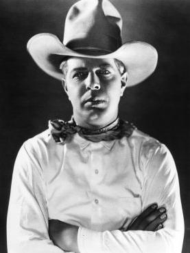 Black & White photo of movie cowboy