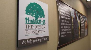 The Dayton Foundation Hall and sign